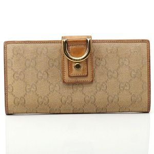 Auth Gucci Gg Canvas Bifold Wallet #749G44